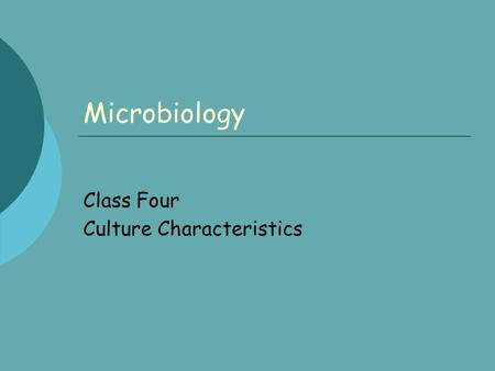 Microbiology Class Four Culture Characteristics. Day 4 Exp 2B, Isolation of pure cultures form SPD, Streak Plate Dilution, Technique. Procedure: page.