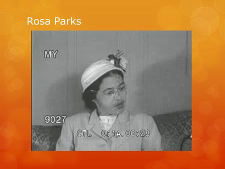 Rosa Parks. Parks on a Montgomery bus on December 21, 1956, the day Montgomery's public transportation system was legally integrated.