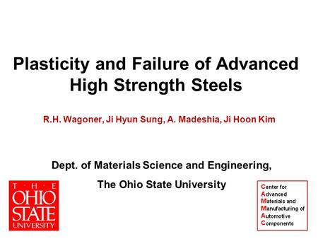Plasticity and Failure of Advanced High Strength Steels
