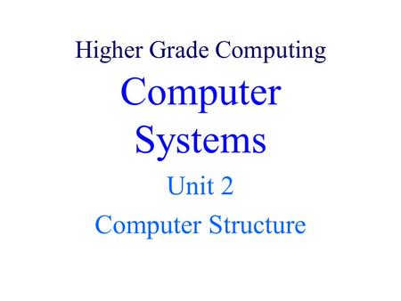 Higher Grade Computing