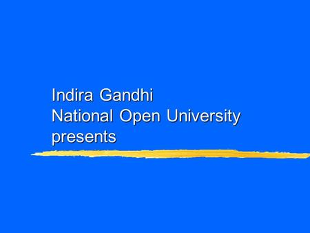 Indira Gandhi National Open University presents. A Video Lecture Course: Computer Platforms.