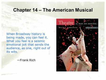 an introduction to the history of american theatre Company history american ballet theatre is recognized as one of the great dance companies in the world few ballet companies equal abt for its combination of size, scope, and outreach.
