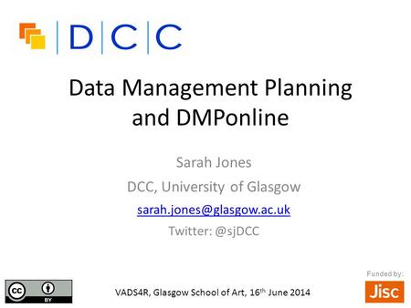 Data Management Planning and DMPonline