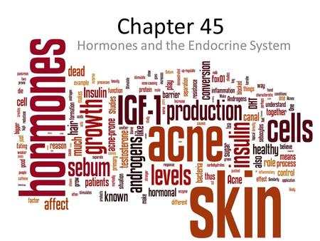 Chapter 45 Hormones and the Endocrine System.