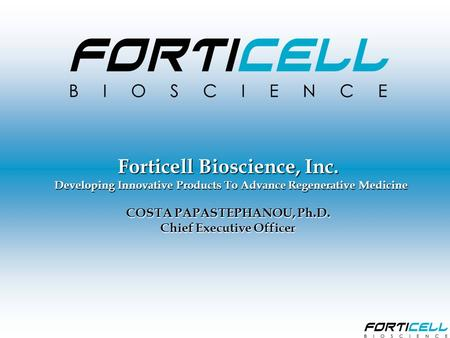 Forticell Bioscience, Inc