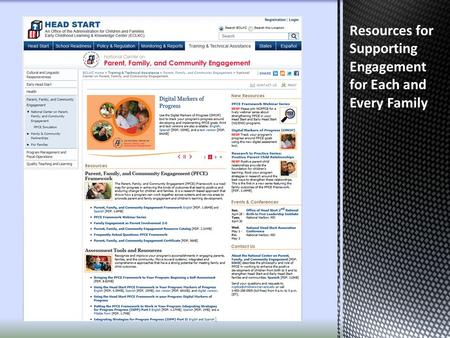 Resources for Supporting Engagement for Each and Every Family 1.
