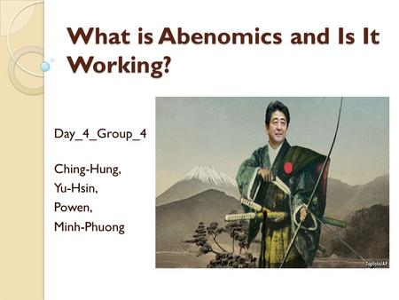 What is Abenomics and Is It Working?
