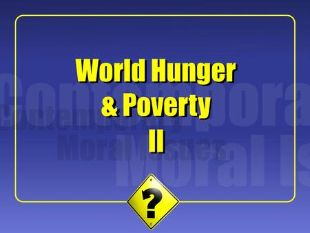 1 II World Hunger & Poverty. 2 Background Hit by a massive cyclone in 1970 killing up to half a million people – central government responded poorly.