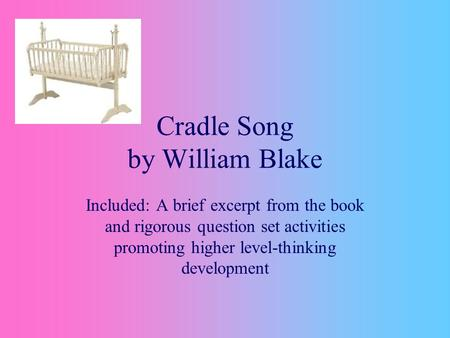 Cradle Song by William Blake