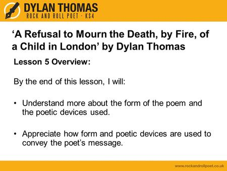 a refusal to mourn the death explanation