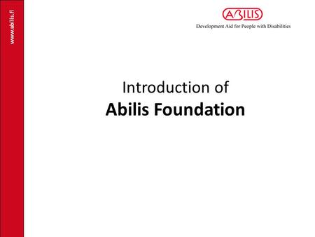 Introduction of Abilis Foundation