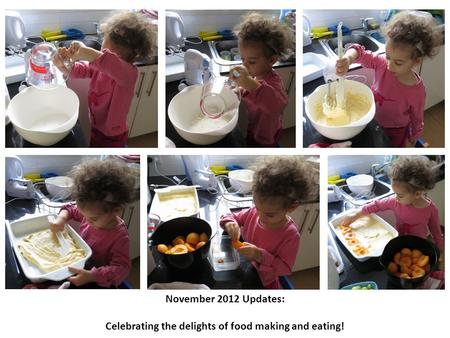 November 2012 Updates: Celebrating the delights of food making and eating!