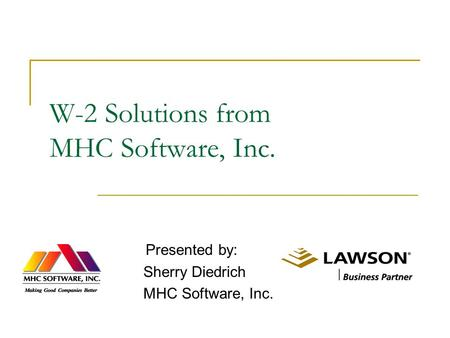 W-2 Solutions from MHC Software, Inc.