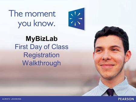 MyBizLab First Day of Class Registration Walkthrough.