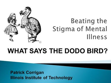 Patrick Corrigan Illinois Institute of Technology WHAT SAYS THE DODO BIRD?