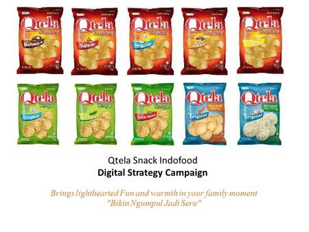 Brings lighthearted Fun and warmth in your family moment Bikin Ngumpul Jadi Seru Qtela Snack Indofood Digital Strategy Campaign.