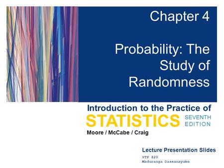 Chapter 4 Probability: The Study of Randomness