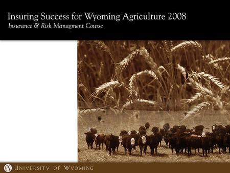 RMA Crop Production and Revenue Insurance Products Lesson Overview In this lesson, we will learn about: – Wyoming acres of annually-planted crops, and.