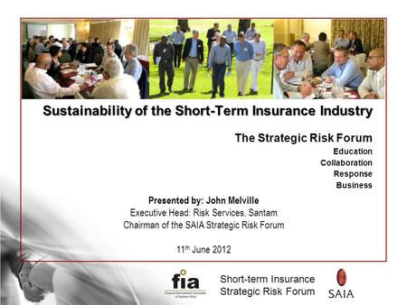Sustainability of the Short-Term Insurance Industry