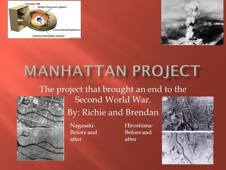 the necessity of the manhattan project during the second world war The manhattan project was not the only effort to create an atomic bomb during world war ii much of the theory behind fission had been published before the war and was internationally available.