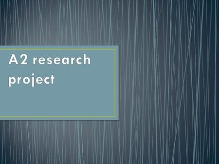 To give you practical experience of planning, designing and carrying out an ethical piece of research. To develop your understanding of research methodology,