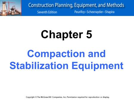 Compaction and Stabilization Equipment