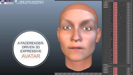 A FACEREADER- DRIVEN 3D EXPRESSIVE AVATAR Crystal Butler | Amsterdam 2013.