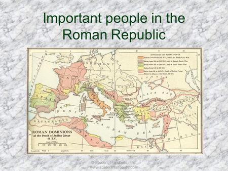 Important people in the Roman Republic