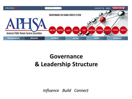Governance & Leadership Structure Influence Build Connect.