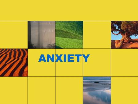 ANXIETY. Definition of Anxiety Anxiety is a feeling of apprehension or fear. The source of this uneasiness is not always known or recognized, which can.