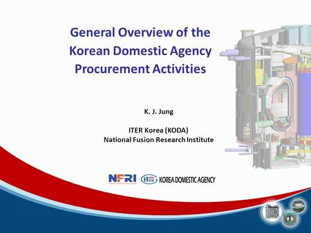 General Overview of the Korean Domestic Agency Procurement Activities K. J. Jung ITER Korea (KODA) National Fusion Research Institute.