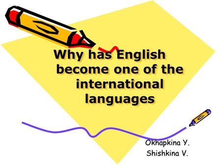 Why has English become one of the international languages