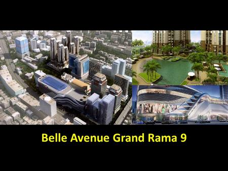 Belle Avenue Grand Rama 9. MRT Phraram 9 Central Plaza Rama 9 Fortune Esplanade Airport Link 2 beds, 1 bath 59 sqm, type M1 Tower D2, Fl 17 For Rent 32,500.