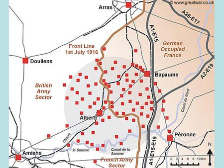 Somme Battle Plan: You have… Study the Source. What does it suggest happened at the Battle of the Somme? From the RGA 69 th Siege Battery Study the Source.
