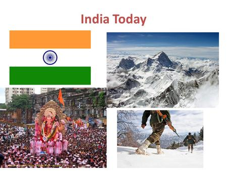 India Today. Five Fast Facts India has the second largest population in the world, with over 1.2 billion people. The major religions of India include.