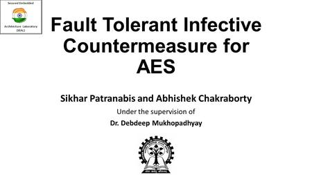 Fault Tolerant Infective Countermeasure for AES