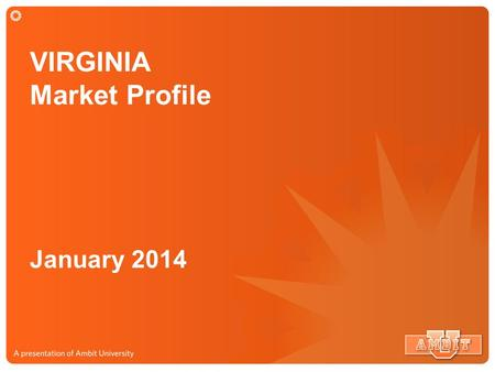 VIRGINIA Market Profile January 2014. VIRGINIA Market Service Map 496,000 Potential Customers.