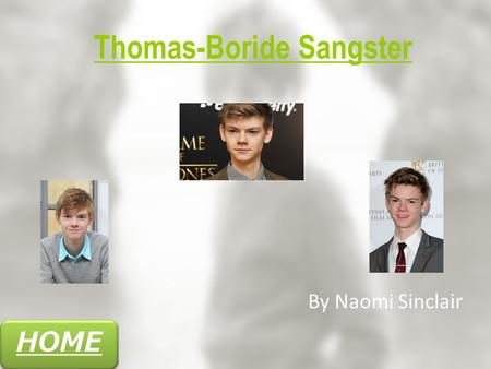 HOME Thomas-Boride Sangster By Naomi Sinclair. HOME Navigation Nanny McPhee Trailer How many films has he featured in? FilmographyFactsAward NominationsSummary.