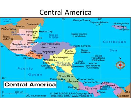 Central America. 7 countries- Guatemala, Belize, Honduras, El Salvador, Nicaragua, Costa Rica and Panama Isthmus that connects North America and South.
