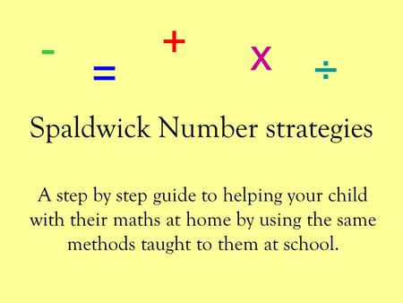 Spaldwick Number strategies