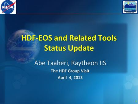 1 HDF-EOS and Related Tools Status Update. 2 Overview.