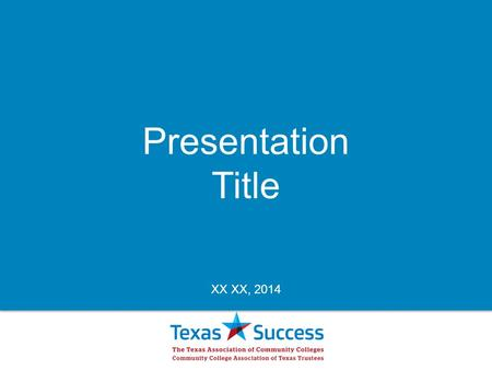 Presentation Title XX XX, 2014. We're a pathway to success that connects people to higher education and the skills they need to be job-ready. We're constantly.