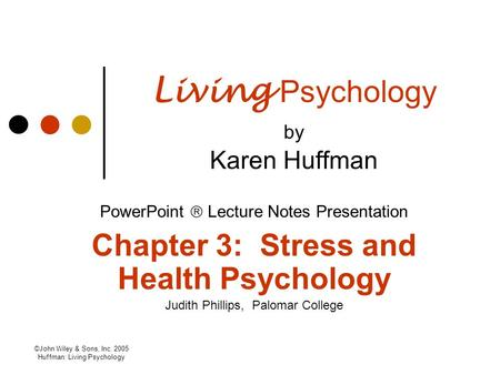 Living Psychology by Karen Huffman