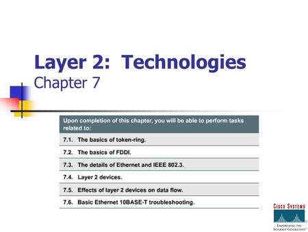 Layer 2: Technologies Chapter 7