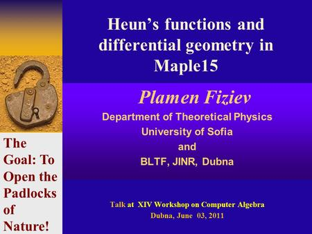 Heun's functions and differential geometry in Maple15