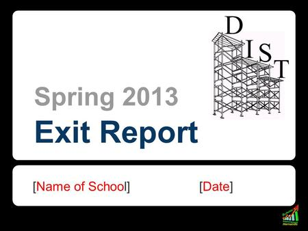 Spring 2013 Exit Report [Name of School] [Date]. Element I: Classroom Environment 1. Overall, classroom expectations were established, communicated, modeled.