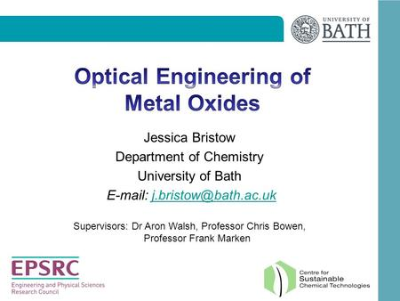 Optical Engineering of Metal Oxides