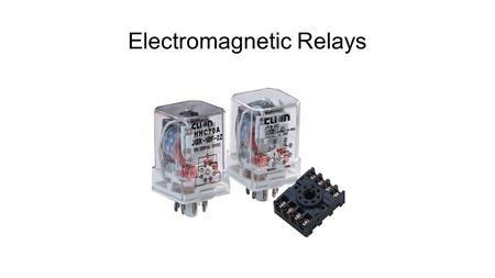 Electromagnetic Relays. Contactors Contactor example.