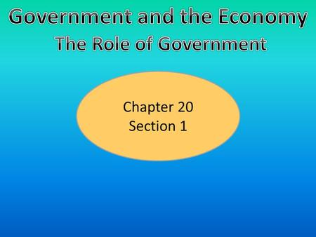 Chapter 20 Section 1. Providing Public Goods What Are Private Goods?  Private Goods- Goods that, when consumed by one individual, cannot be consumed.