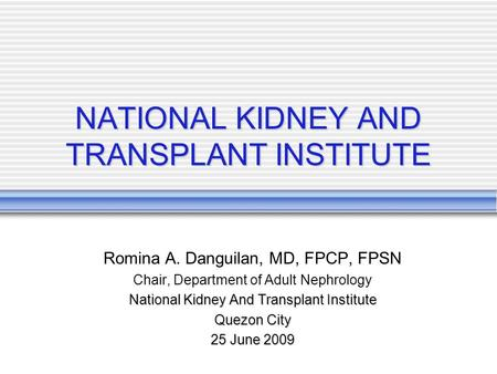 nephrology kidney transplant program adult team